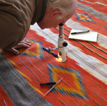 authentication of a Navajo rug before cleaning